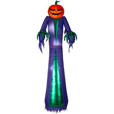 Halloween Jack O Reaper Pre Lit Inflatable Projection Fire and Ice - 12 ft. New
