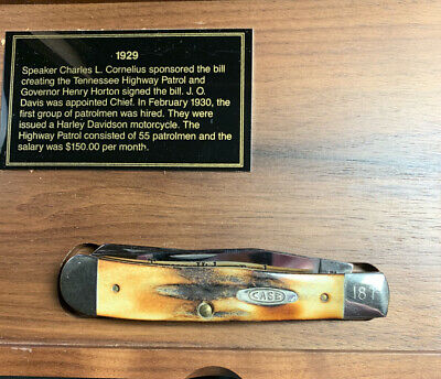 Case XX 5254ss Tennessee Highway Patrol 65th Anniversary Knife Trapper Stag