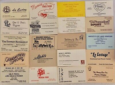 417 USA Food Restaurant Cafe Pizza Mexican Grill -Asian-Bistro--Business Cards