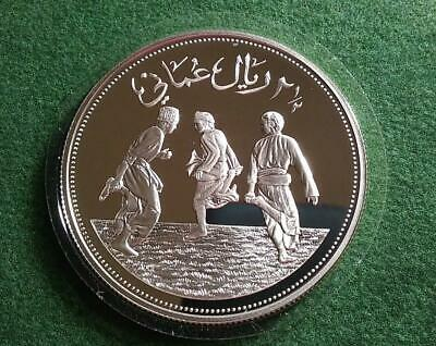 OMAN - AH1411-1991 silver 2 1/2 Rials - Save the Children - PROOF in capsule