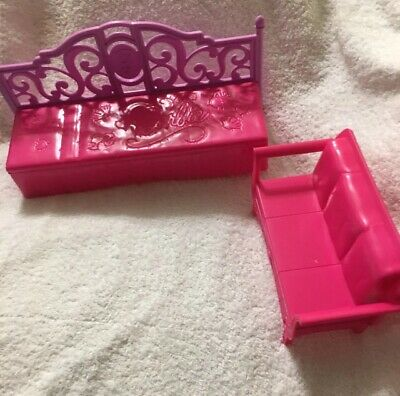 Barbie Dollhouse Furniture Lot Living Room Dream House Couch Bed