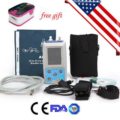 US contec Ambulatory Blood Pressure Monitor Automatic ABPM holter pulse oximeter