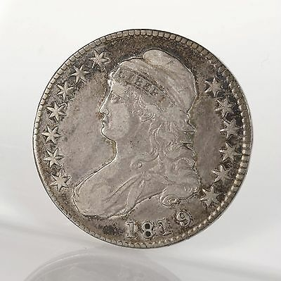 1819 / 8 Capped Bust 50C O-103 Uncertified Ungraded Early US Silver Half Dollar