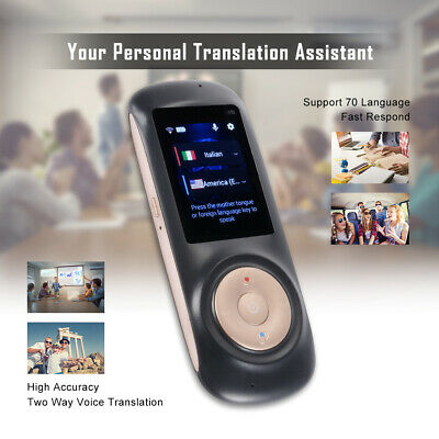 "T2S 2.4"" Touch Screen Smart Instant Voice Translator Interpreters Device AC2019"
