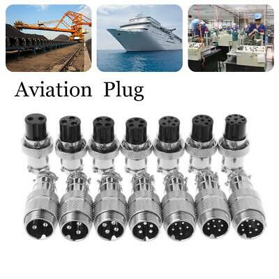 16mm GX16 Aviation Plug Male&Female Wire 2-10 Pin Panel Metal Connector