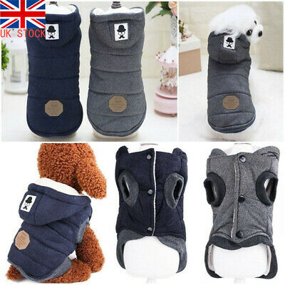Pet Small Dog Puppy Warm Coat Jacket Hoodie Thick Apparel Outwear Clothes S M L