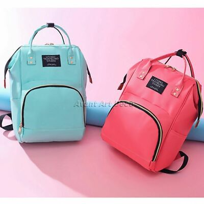HQ Baby Diaper Bag Mummy Nappy Changing Backpack Multifunction Nursing Backpack