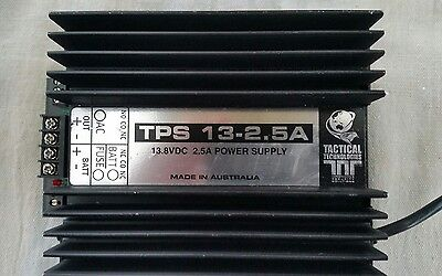 13.8 Volt 2.5Amp TACTICAL TECHNOLOGIES Security CCTV POWER SUPPLY