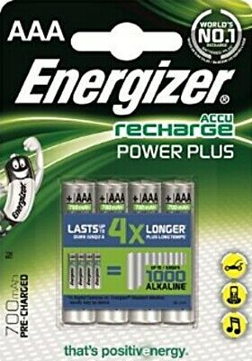 8 x ENERGIZER 700mAh ACCU RECHARGE POWER+ AAA RECHARGEABLE BATTERIES HR03 NiMH