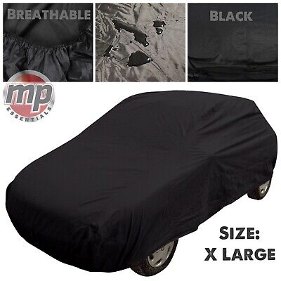 Black Indoor & Outdoor Frost Rain UV Breathable Full Car Cover for Ford Focus RS