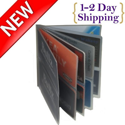 Wonder Wallet Inserts 2pc 12 Page Plastic Replacement Amazing Slim Comfortable