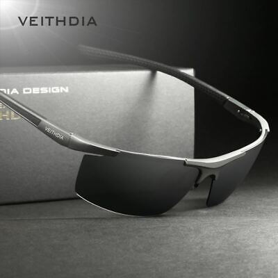 VEITHDIA Aluminum Magnesium Men's Sunglasses Polarized Coating Mirror Sun Glasse