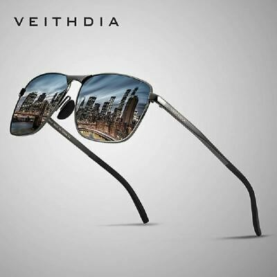 VEITHDIA Brand Men's Vintage Square Sunglasses Polarized UV400 Lens Eyewear Acce