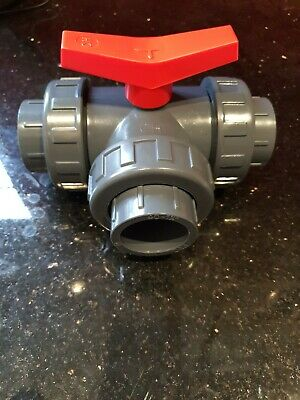 40Mm 3 Way Solvent Weld Pvc Ball Valve *T-Port*