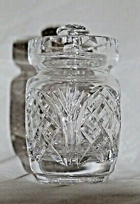 Cut Crystal Glass COVERED Jelly Jam CONDIMENT Marmalade JAR MARKED HERITAGE