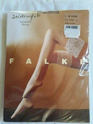 N04/ BAS JARRETIERE stay up  FALKE poudre T.1 Powder stay up stockings small