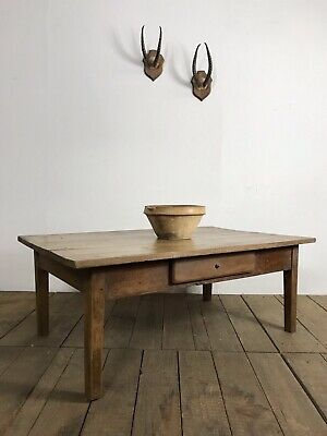 19th Century Antique French Country Farmhouse Coffee Table