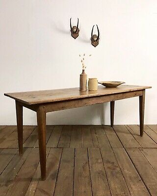 Lovely Antique French Country Farmhouse Rustic Kitchen Dining Table
