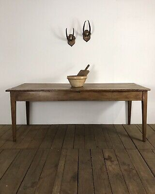 19th Century Antique French Farmhouse Fruitwood Kitchen Dining Table