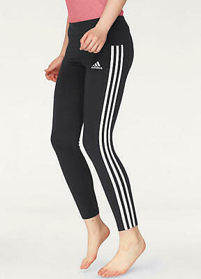 adidas girls 3 Stripe Black Athletic Tights size M L