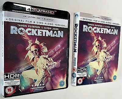 ROCKETMAN 4K UHD* 4K Disc+CASE AND SLIP-CASE.Read Descriptio. No 2D Disc* ATMOS