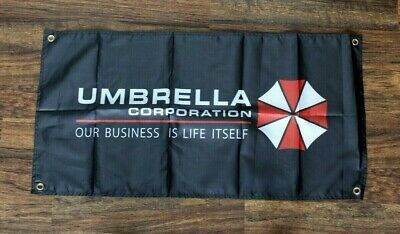 Umbrella Corporation Banner Flag Resident Evil Video Game Ships from USA New