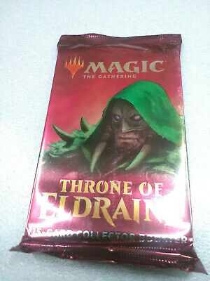 THRONE OF ELDRAINE COLLECTOR 1 x BOOSTER PACK *SEALED* ENG - MTG Altered Foil