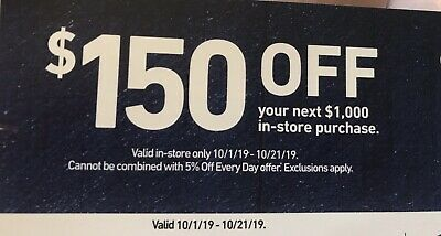 !!!Lowes $150 Off $1,OOO Coupon!!!$