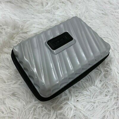 TUMI Delta First Class Amenity Kit Hard CASE ONLY Gray Black travel pouch GUC
