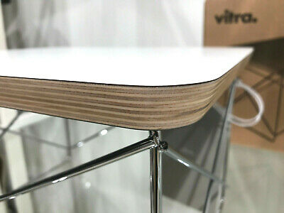 Vitra LTR Occasional Table, Eames, HPL weiss, Chrom, Neu, inkl. 19% MwSt.!