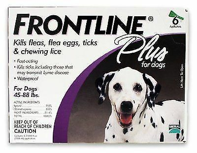 Frontline Plus For Dogs 45-88 Lbs,3 Doses