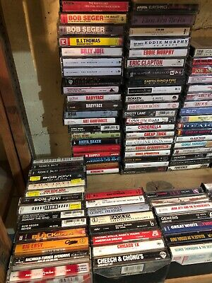 Cassette tape Random 10 lot Rock Alternative Metal Hip Hop R&B All Genres.