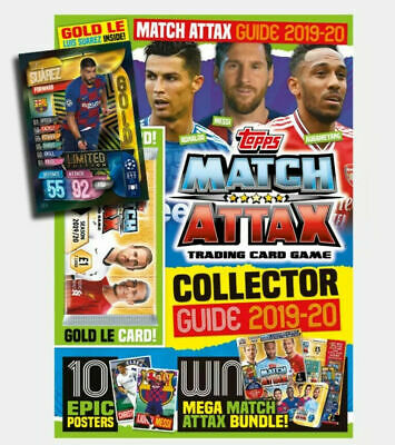 Match Attax 2019/20 Collector Guide With Luis Suarez Gold Limited Edition Card.