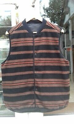 Lee Riders Vintage style insulated Wool vest Men Large Southwestern RRL Oi Levis