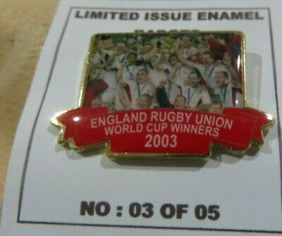 England Limited Edition Carded Rugby World Cup Winners 2003 Badge
