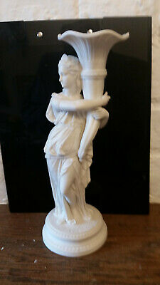 Victorian Parian figure / vase - young women in classical pose