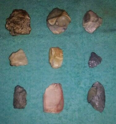 9 Authentic Native American Artifacts Found In Henry County MO - Small Tools