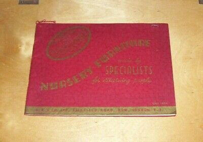 BAVEYBUILT of Bow NURSERY FURNITURE SPECIALIST CATALOGUE LIST 1954 COTS CHAIRS
