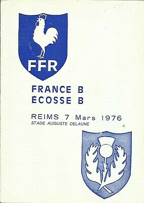 1976 FRANCE B v SCOTLAND B, Stade Auguste Delaune, Reims, MINT condition!