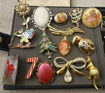 ✅ Good Condition ✅ Vintage Brooches Costume Jewellery Job Lot Mixed Bundle