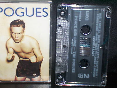 Pogues Peace And Love - Rare Cassette Nm