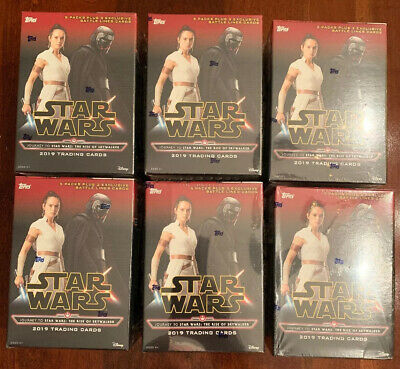 Lot Of 6 - 2019 TOPPS  JOURNEY TO STAR WARS: THE RISE OF SKYWALKER BLASTER BOX