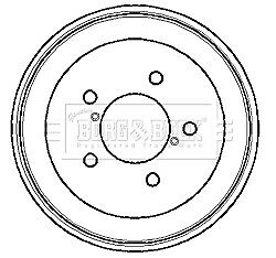 Brake Drum 200mm BBR7107 Borg & Beck 4243105010 4243120190 Quality Replacement
