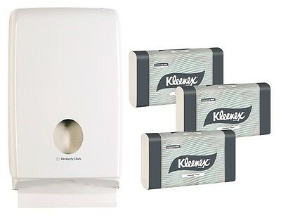 Kleenex 4440 Starter Pack (4441) 15 Packs of 90 Towels + Dispenser 70240