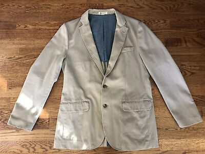 J Crew Mens Unconstructed 2 Button Cotton Twill Sport Coat Blazer Jacket Medium