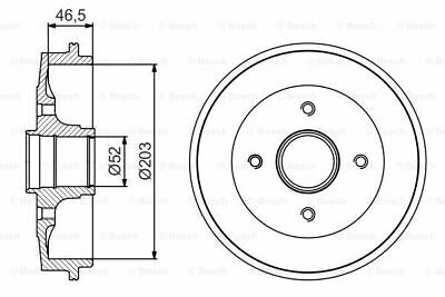 CITROEN SAXO 1.6 2x Brake Drums (Pair) Rear 96 to 03 With ABS 5612418RMP 203mm