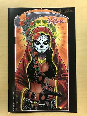 La Muerta Pin Ups #1 Sacred Variant Cover by Terry Huddleston Signed Pulido /69