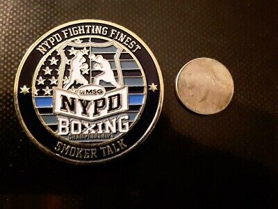 New York Police department Boxing Madison Square Gardens Challenge Coin