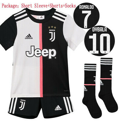 19/20 Juventus Ronaldo Soccer Suits Football Kits Jerseys Shorts Socks For Kids