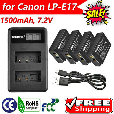 LP-E17 Battery or Charger for EOS 77D M6 M5 M3 8000D Rebel T6s Rebel T6i T6s